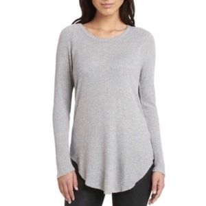 Chaser thermal waffle knit long sleeve top